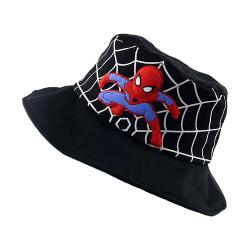 Kids Comics Spiderman Classic Character Fisherman Hat Justerbar Black