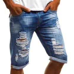 Herr Denim Cargo Torn Short Jeans Blue L