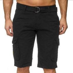 Camouflage-shorts för män med bälte black 30