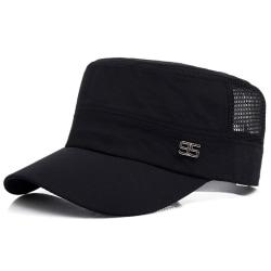Mäns platt mössa andas solskydd pendlare mode hatt utomhus Black
