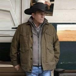 Herrjacka med enkel knapp Cowboyjacka S