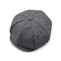Mäns snygg pumpahatt Newsboy-keps andas hela matchen Black-light gray