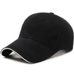 Män Kvinnor Pure Color Cap Justerbar Sport Fritid Pendling Black