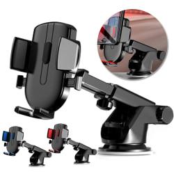 360 graders roterande flervinkel för biltelefonhållare halksäker Black