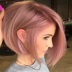 Kvinnors rosa korta BIR-stil rakt hår peruk damer full peruker