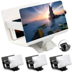 Bärbar skärmförstorare för mobiltelefon HD-skärm White