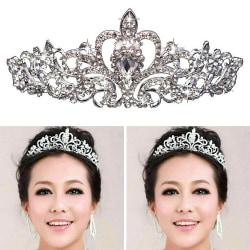 Princess Bridal Crystal Wedding Hair Tiara Rhinestone Crown