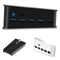 PS5 PS4 5-port förlänga USB-navförlängningssplittern hög hastighet Black