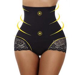 Kvinnors sexiga korsett Body Shaping Hip Pants Mycket elastisk Black S