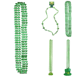 St. Patrick's Day halsband Hat Clover Pendant för festdräkt Style 2