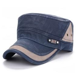 Snygga sömmar för mössor med platt keps, justerbara elastiska mössor Navy blue