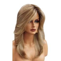 Snygg perukgradient Mikrovolym Mellanlångt hår Eleganta tjejer Golden