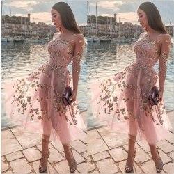 Temperament Kvinnors Sexiga Tube Top Dress High Midja Slim Pink Pink M