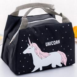 Unicorn Women Girl Child Kid bärbar isolerad lunchpåse Unicorn