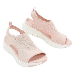 Kvinnors höjdökande skor Fish Mouth Platform Sandaler Pink 40