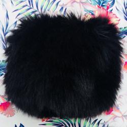 Kvinnors plysch manschett oversleeve vinter vindtät mjuk handledsvärmare Black