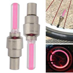 LED-lampa till däckventil hjul röd 2-pack