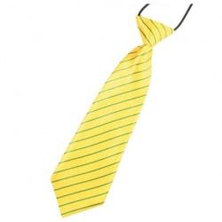Slips till barn gul/grön randig