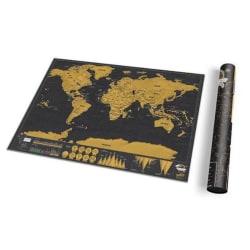 Scratch Map Deluxe - världskarta att skrapa (XL 59 x 82,5 cm)