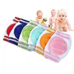 Krypmuddar, knäskydd och krypskydd för baby / bebis Ljusrosa