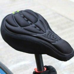 Sadelöverdrag - cykel sadelskydd med vaddering svart