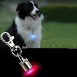 Skarpt LED ljus för hund. Fästes på halsbandet