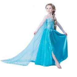 Söt Princess Elsa klänning 150 cl