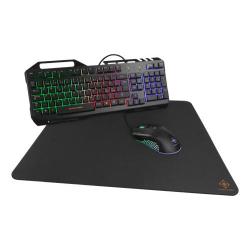 GAMING 3-In-1 Gaming Gear Kit, RGB-tangentbord, mus, musmatta