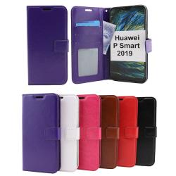 Crazy Horse Wallet Huawei P Smart 2019 Brun