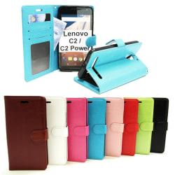 Crazy Horse Wallet Lenovo C2 / Lenovo Vibe C2 Brun