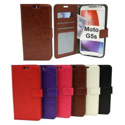 Crazy Horse Wallet Moto G5s Brun