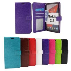 Crazy Horse Wallet Nokia 2.1 Svart