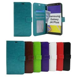 Crazy Horse Wallet Samsung Galaxy J4 Plus (J415FN/DS) Brun