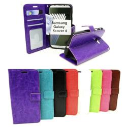 Crazy Horse Wallet Samsung Galaxy Xcover 4 (G390F) Lila