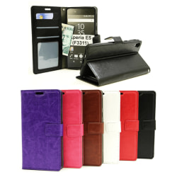 Crazy Horse Wallet Sony Xperia E5 (F3311) Svart