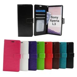 Crazy Horse Wallet Sony Xperia L3 Svart