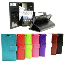 Crazy Horse Wallet Sony Xperia X Compact (F5321) Svart