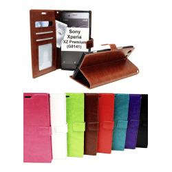 Crazy Horse Wallet Sony Xperia XZ Premium (G8141) Svart