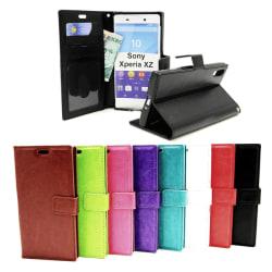 Crazy Horse Wallet Sony Xperia XZ / XZs  (F8331 / G8231) Röd