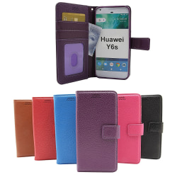 New Standcase Wallet Huawei Y6s (Svart) Svart