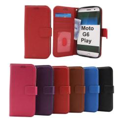 New Standcase Wallet Motorola Moto G6 Play Blå