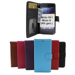 New Standcase Wallet Motorola Moto X4 / Moto X (4th gen) Svart