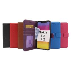 New Standcase Wallet Nokia 6.2 / 7.2 (Svart) Ljusblå