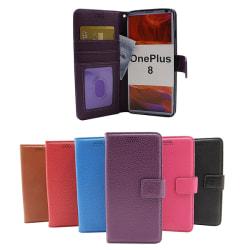 New Standcase Wallet OnePlus 8 Svart