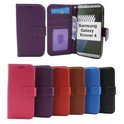 New Standcase Wallet Samsung Galaxy Xcover 4 (G390F) (Lila) Ljusblå