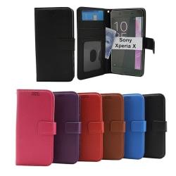 New Standcase Wallet Sony Xperia X (F5121) Svart
