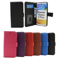 New Standcase Wallet Xiaomi Redmi 5 Plus (Svart) Svart