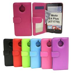 Plånboksfodral Moto E4 Plus (XT1770 / XT1771) Hotpink