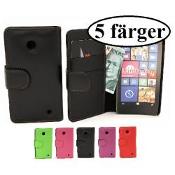 Plånboksfodral Nokia Lumia 630 & Nokia Lumia 635 Svart
