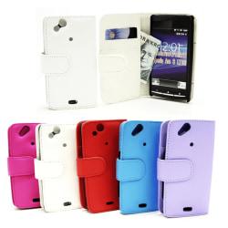 Plånboksfodral Sony Ericsson Xperia Arc (LT18i X12) Ljusblå